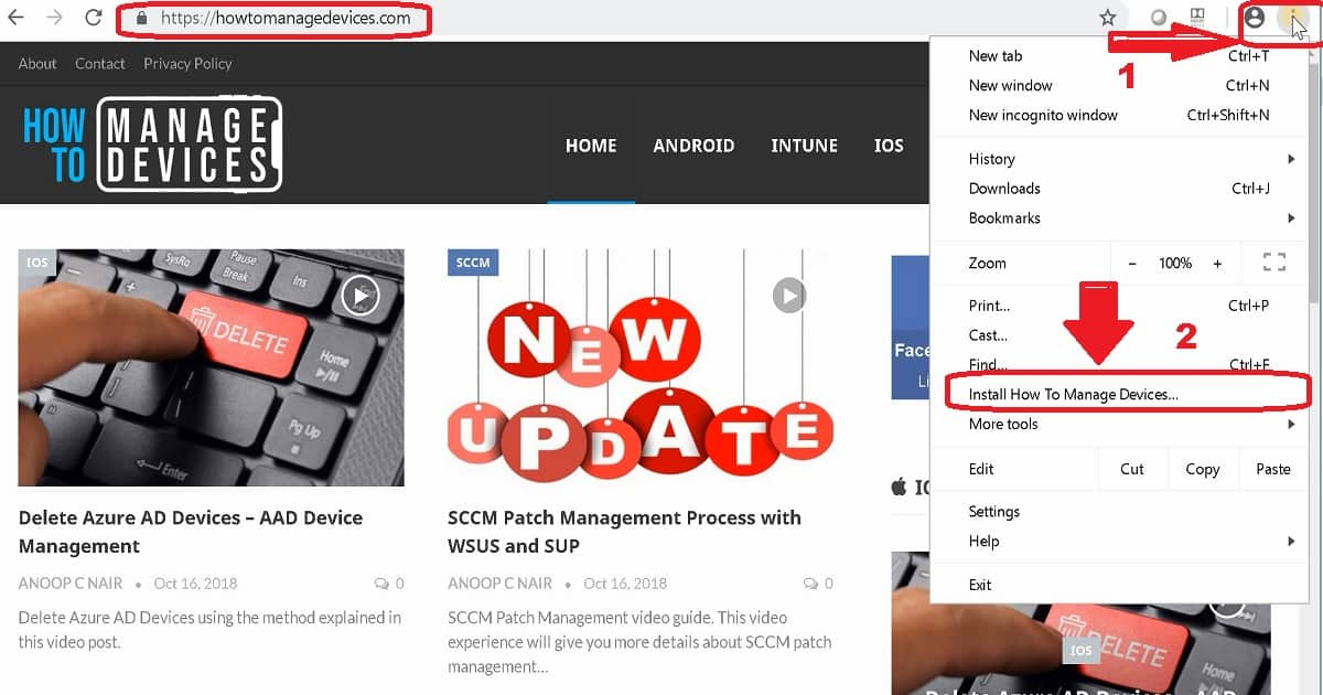 PWA Windows Desktop and Mobile Experience 1