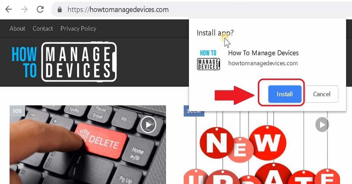 PWA Windows Desktop and Mobile Experience 2