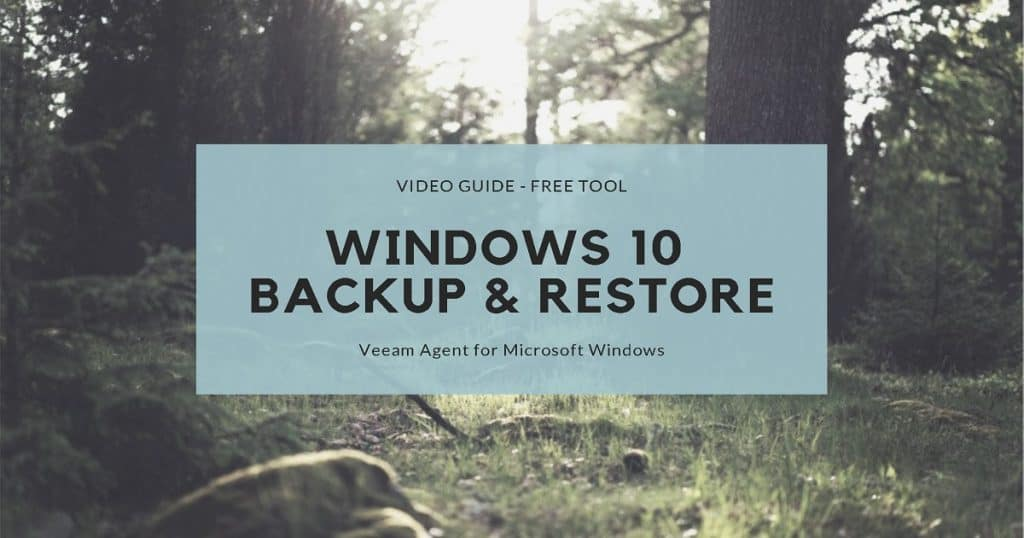 Restore Windows 10 Backup