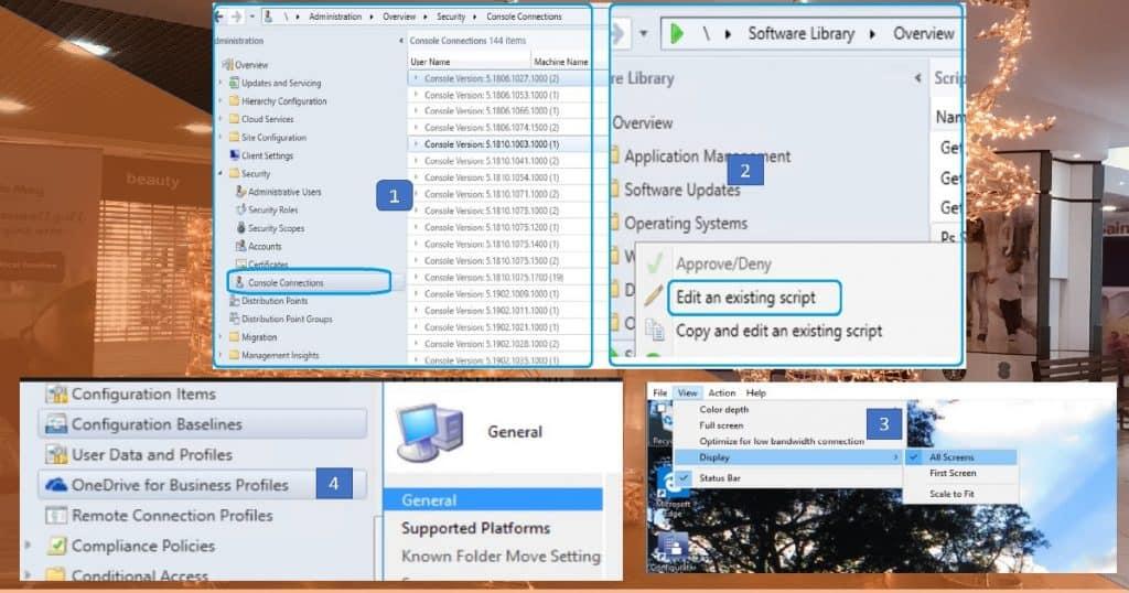 SCCM 1902 Preview SCCM Console Connections Node OneDrive Profile