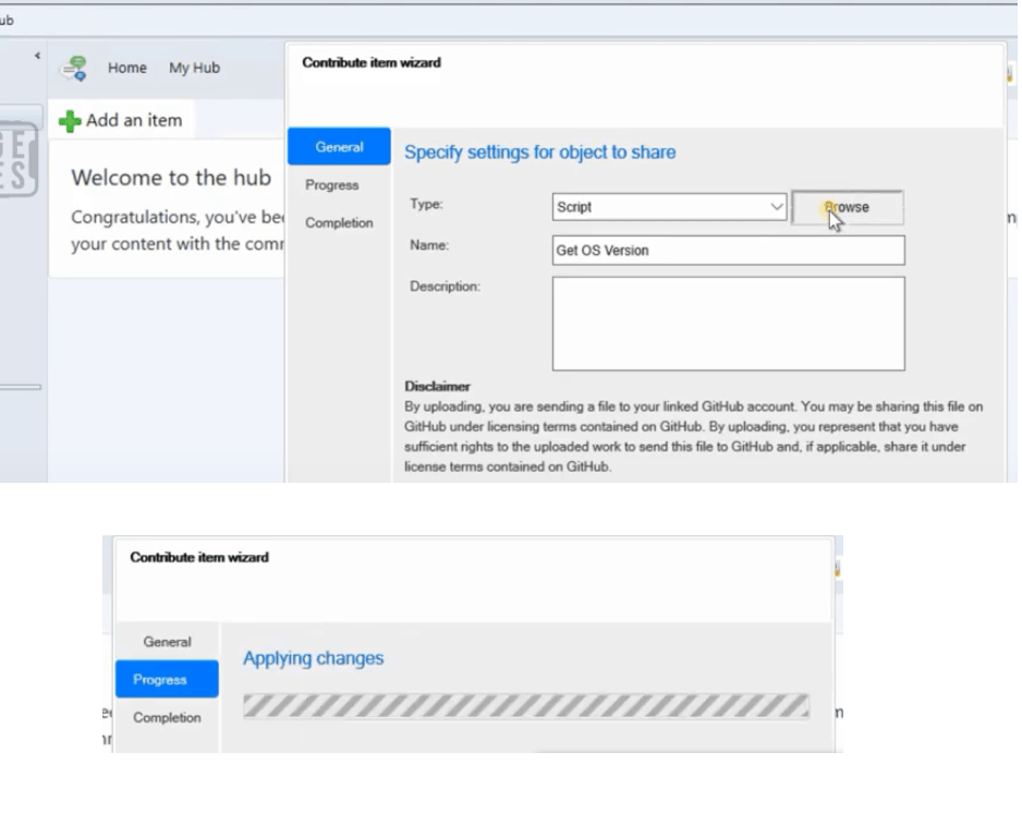SCCM Contributing to SCCM Community Hub Contribute Item Wizard