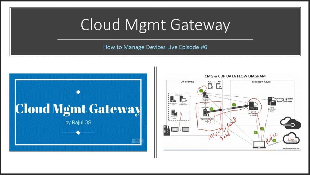 SCCM Cloud Management Gateway ConfigMgr