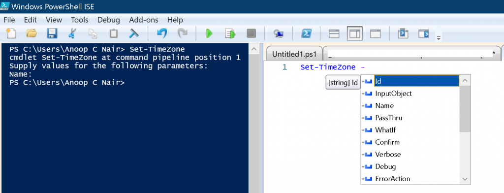 Windows 10 Time Zone - PowerShell