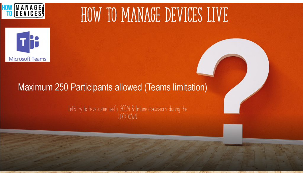 How to Manage Devices Live Digital Events