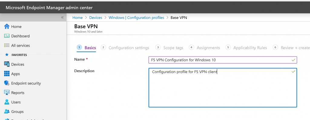 Windows 10 Always-On VPN Using Intune F5 VPN