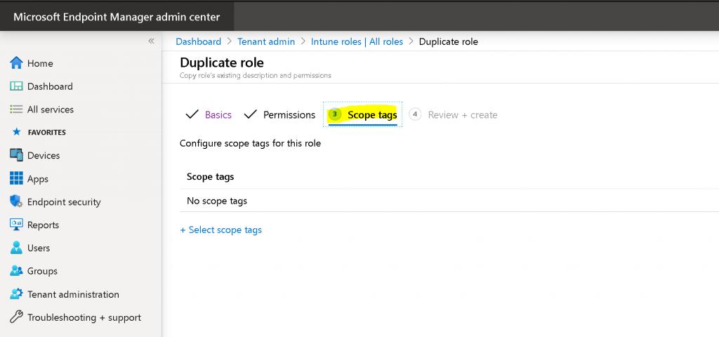 Create Custom Intune Helpdesk Operator Role Deploy 3