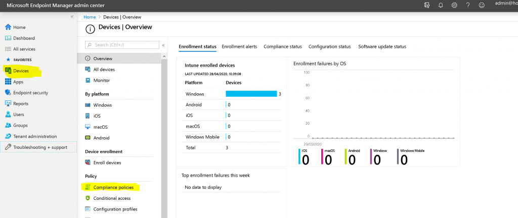 Create an Intune Compliance Policy for Windows 10 Devices Possible to Create Custom Intune Compliance Policy 1