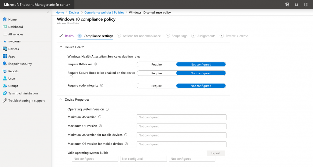 Create an Intune Compliance Policy for Windows 10 Devices Possible to Create Custom Intune Compliance Policy 4