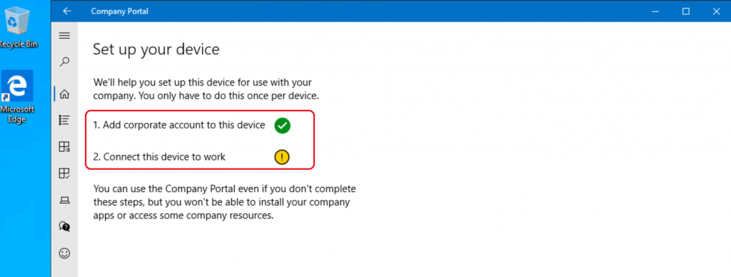 Set Up Your Device - Enroll for Corporate Use - Intune Company Portal Setup