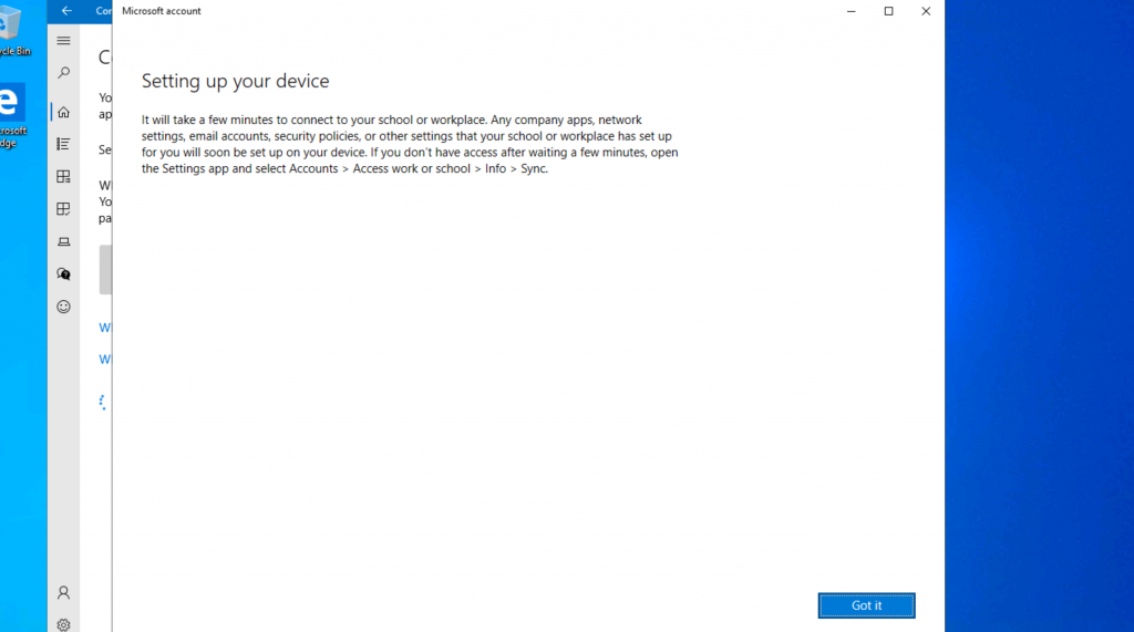 Setting up your Device - Intune Company Portal Setup