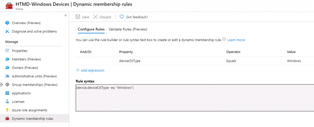 Intune Admins Basic Azure AD Dynamic Device Group Rules   Queries 1