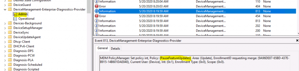 Troubleshooting Uninstall Windows 10 Feature Update using Intune Policies 1