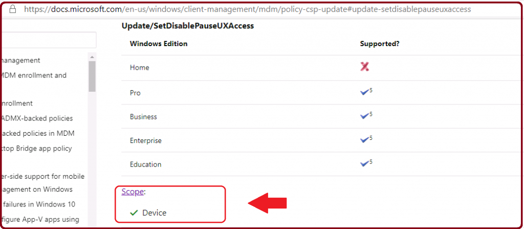 Windows 10 CSP Policy Scope - Convert Windows 10 CSP to OMA-URI for Intune Custom Policies