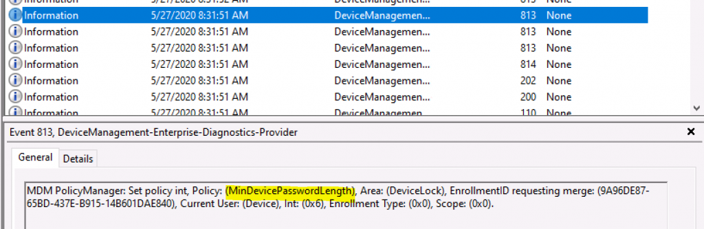 Deploy Password Policies using Intune Configuration Profiles