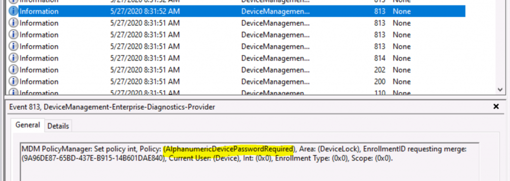 Deploy Password Policies using Intune Configuration Profiles   Device Restriction 2