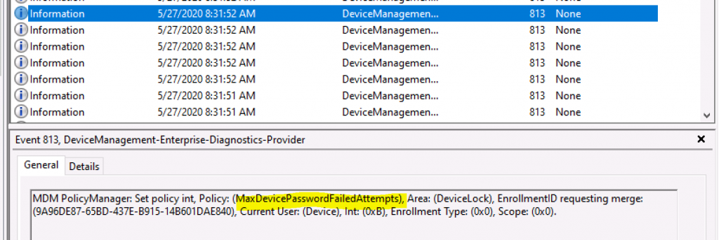 Deploy Password Policies using Intune Configuration Profiles   Device Restriction 5