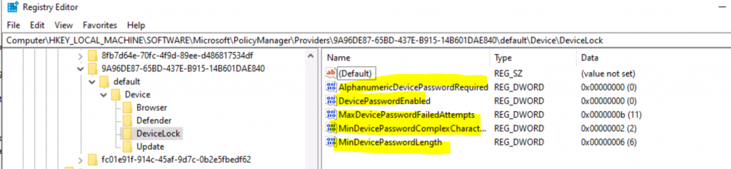 Deploy Password Policies using Intune Configuration Profiles   Device Restriction 6