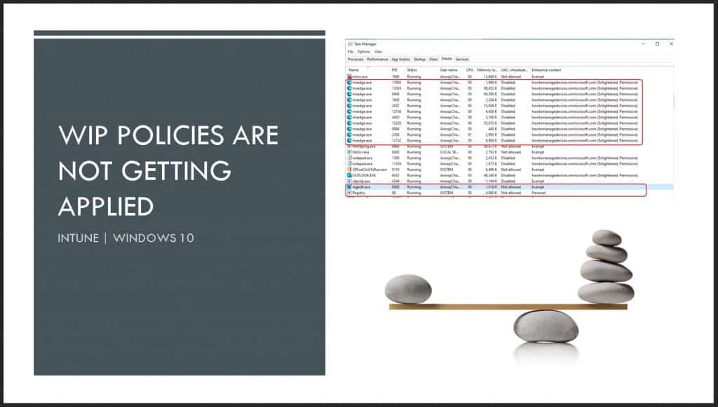 WIP Policies are not Getting Applied to Office web Portal Internal Web Apps