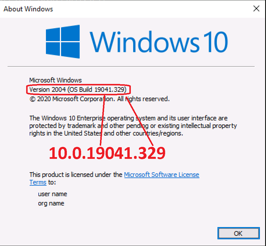 Windows 10 Major Minor Build Rev - Intune - major.minor.build.rev