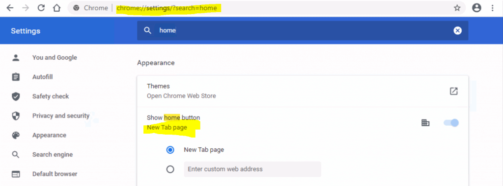 Deploy Chrome ShowHomeButton Enable Policy Using Intune 7
