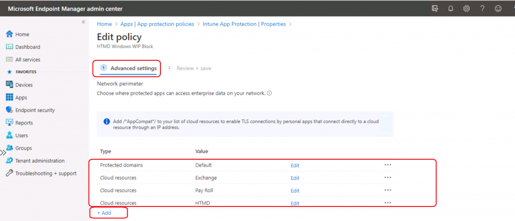 WIP Policies are not Getting Applied to Office web Portal Internal Web Apps | Intune
