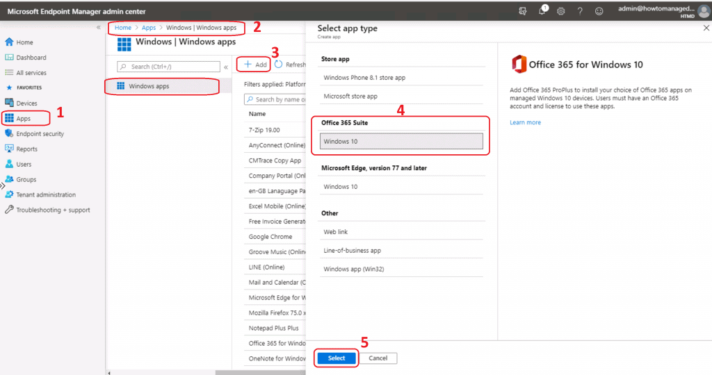 Office 365 ProPlus Deployment Using Intune