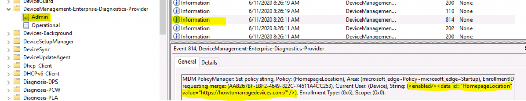 Edge Chromium Home Page Policies Using Intune Administrative Policies