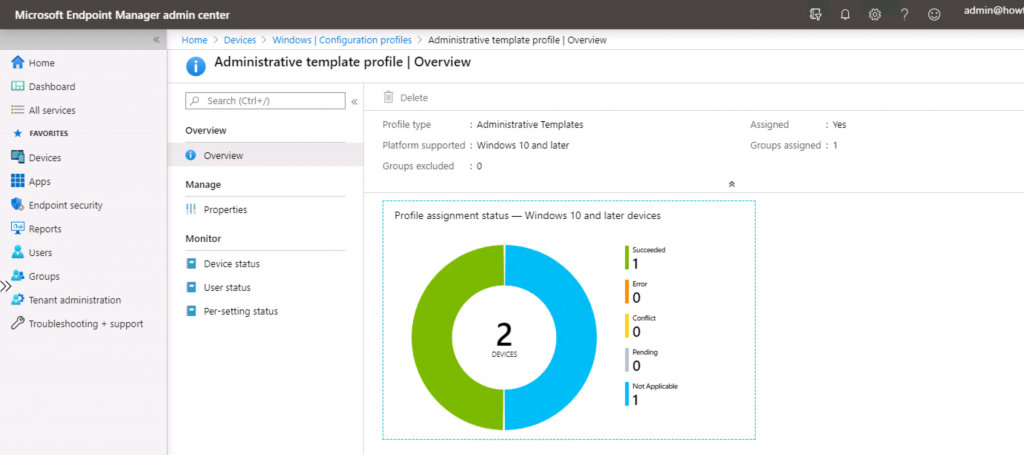 Edge Chromium Home Page Policies Using Intune Administrative Policies 2
