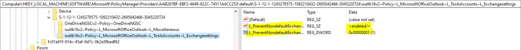 Microsoft Office Outlook Prevent Nondefault Exchange Accounts