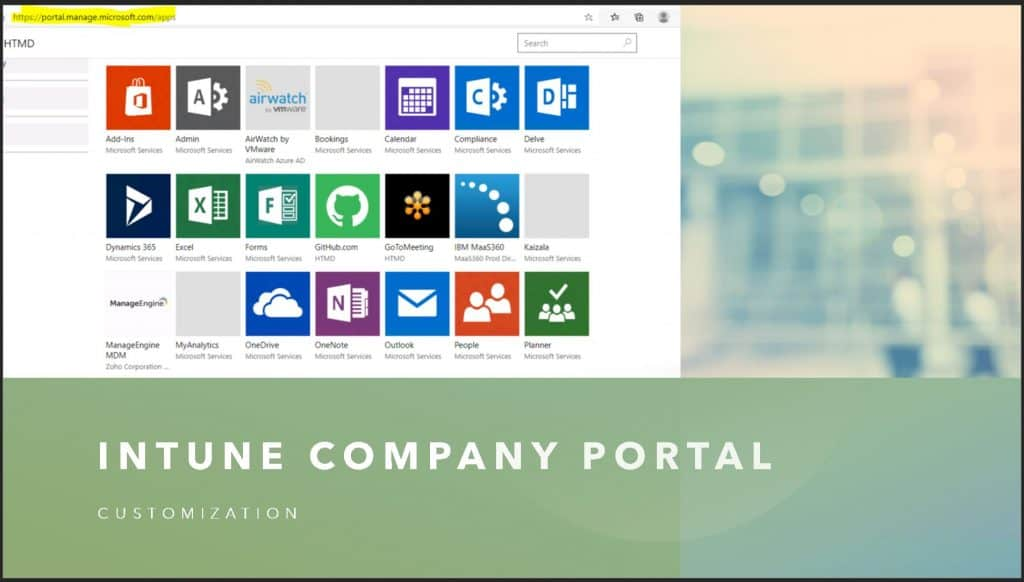 Intune Company Portal Branding Customization Options