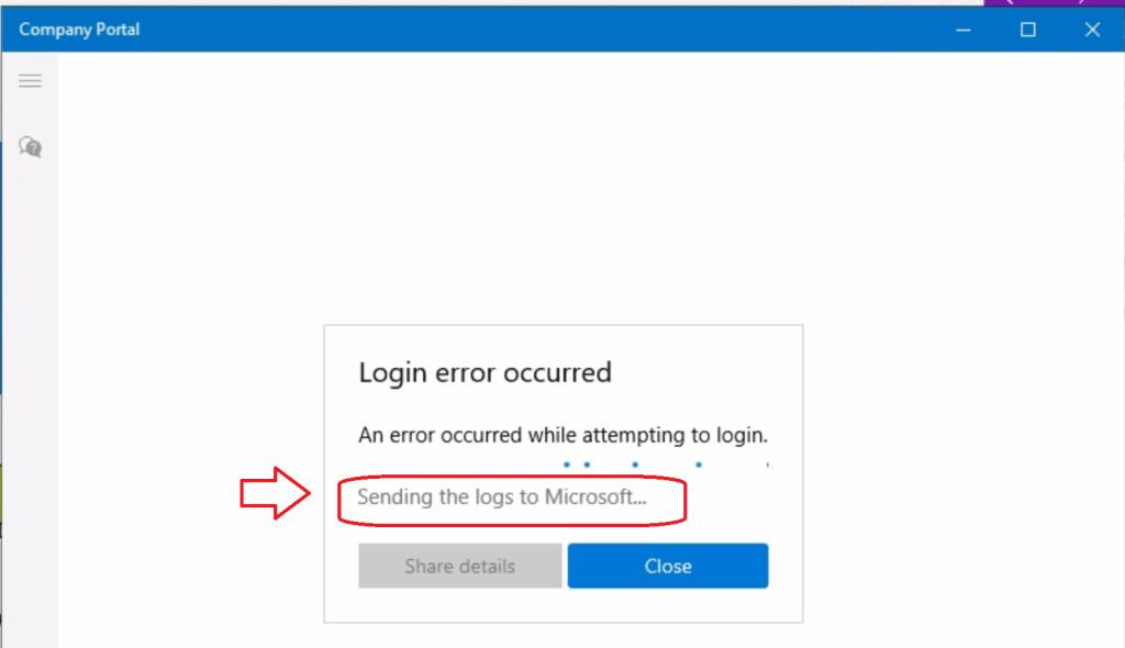Fix Company Portal App Login Error Occurred AAD Auth Issues