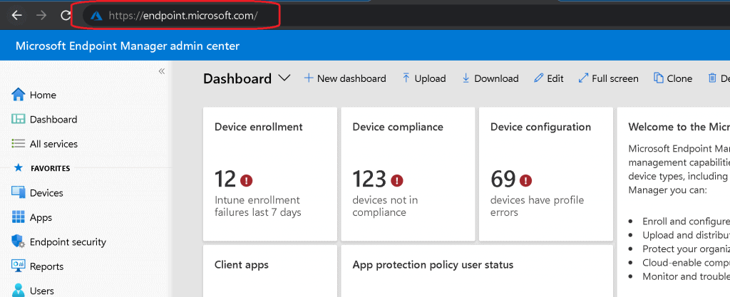 EndPoint Portal Walkthrough - Use EndPoint Portal Stop Using Azure Portal for Intune Admin Related Activities