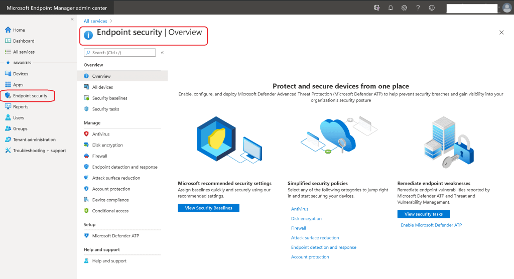 Intune Endpoint Portal Walkthrough - Security Blade