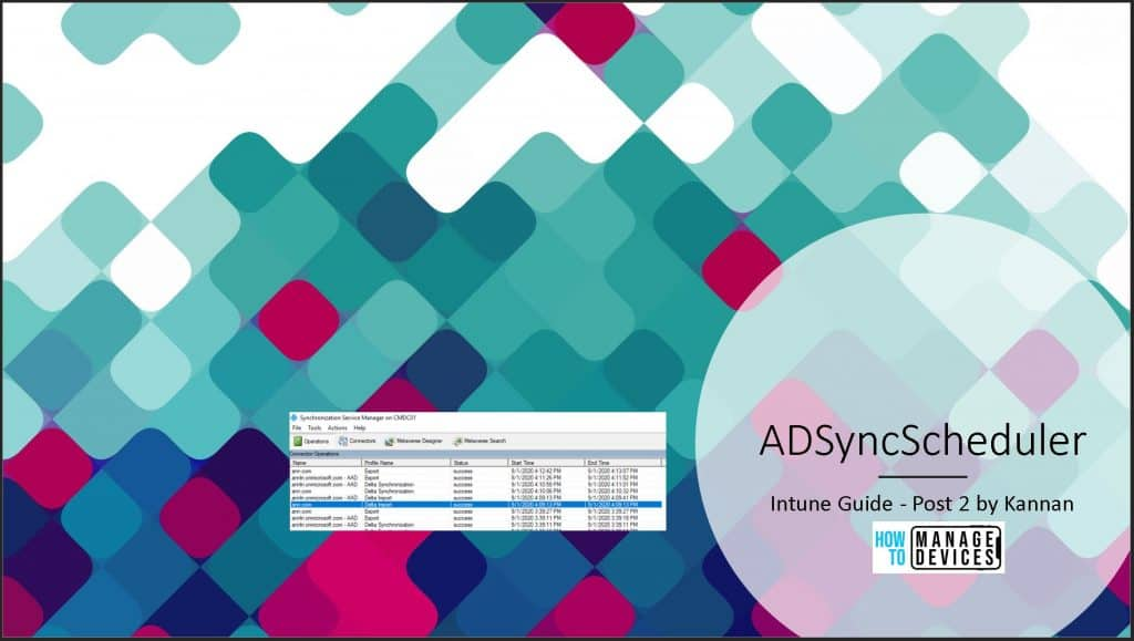 ADD Connect Sync ADSyncScheduler 1
