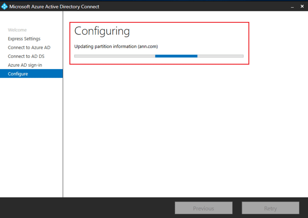 Install Configure Azure AD connect