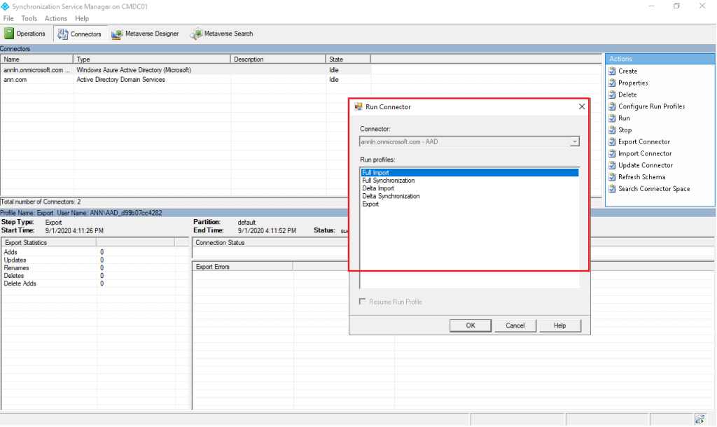 Intune Guide Post 2 | ADD Connect Sync | ADSyncScheduler 3