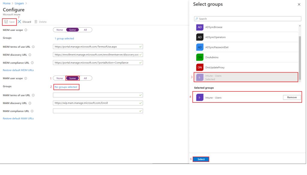 Intune Guide Post 3 - Configure MDM Authority User Scope MAM User Scope