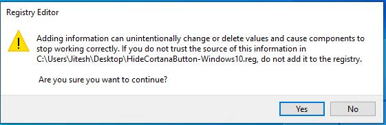 How to Hide or Show Cortana Button on Taskbar in Windows 10 6