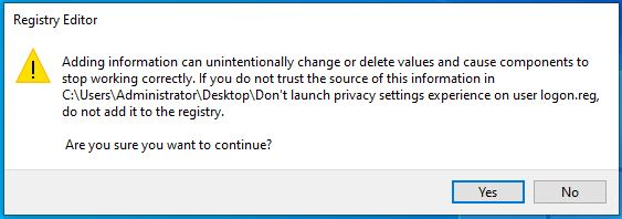 How to Disable Privacy Settings Experience at First Sign-in in Windows 10 4
