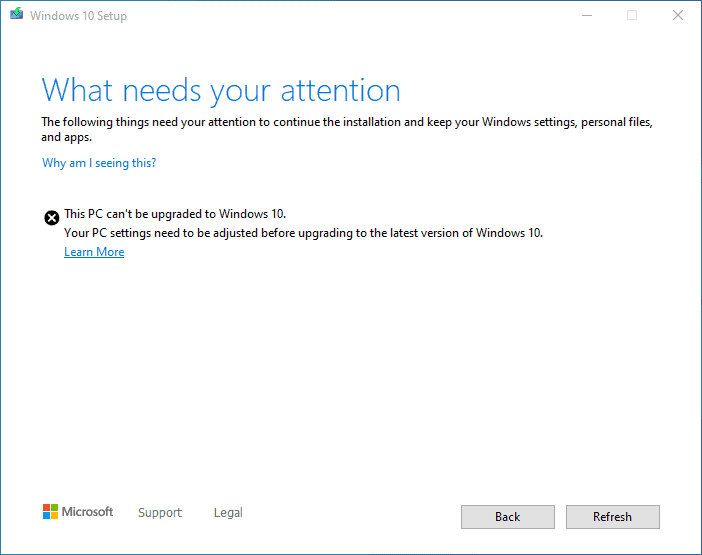 FIX This PC can't be upgraded to Windows 10 version 2004 or 20H2