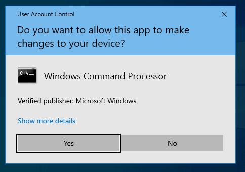 User Access Control (UAC) Settings in Windows 10