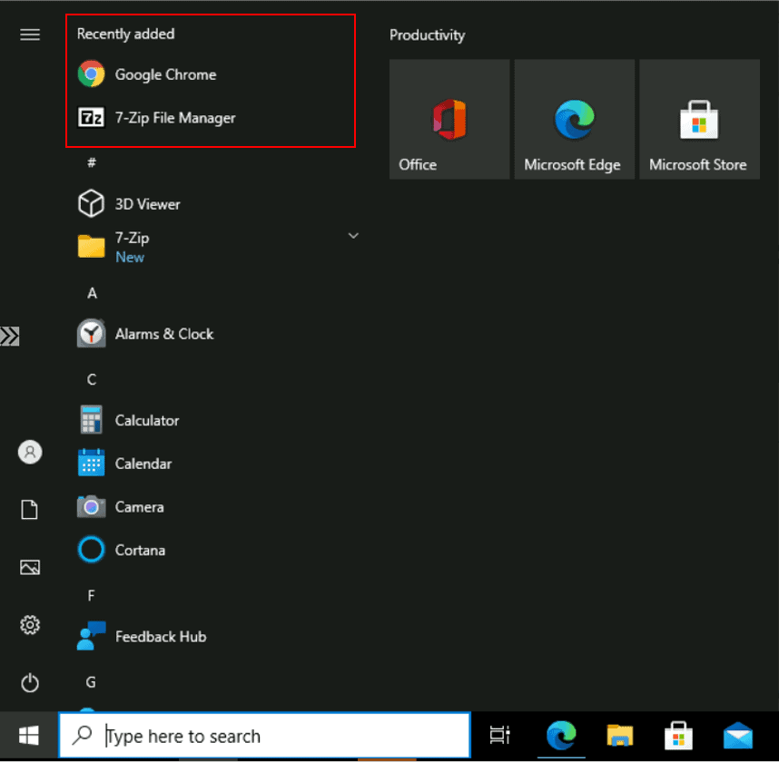 How to Remove Recently Added Apps from Start Menu in Windows 10