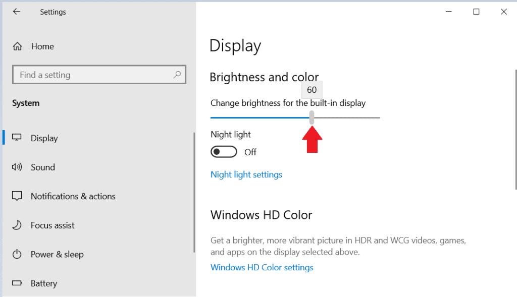 How to Change Screen Brightness in Windows 10 4