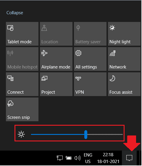 How to Change Screen Brightness in Windows 10 2
