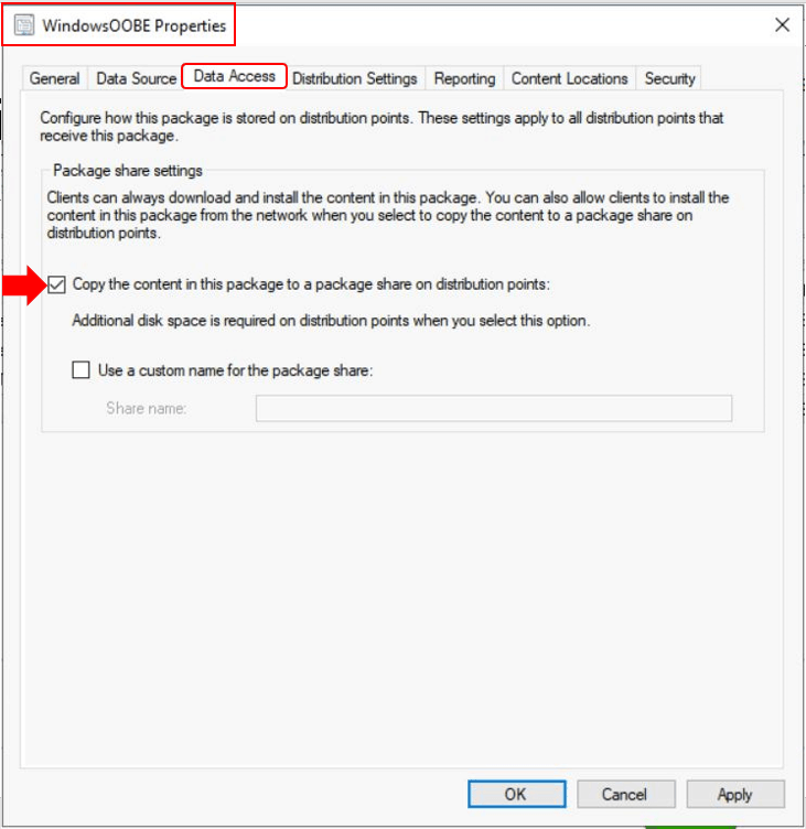 SCCM Task Sequence Available Deployment Options in Distribution Points Tab   ConfigMgr 6