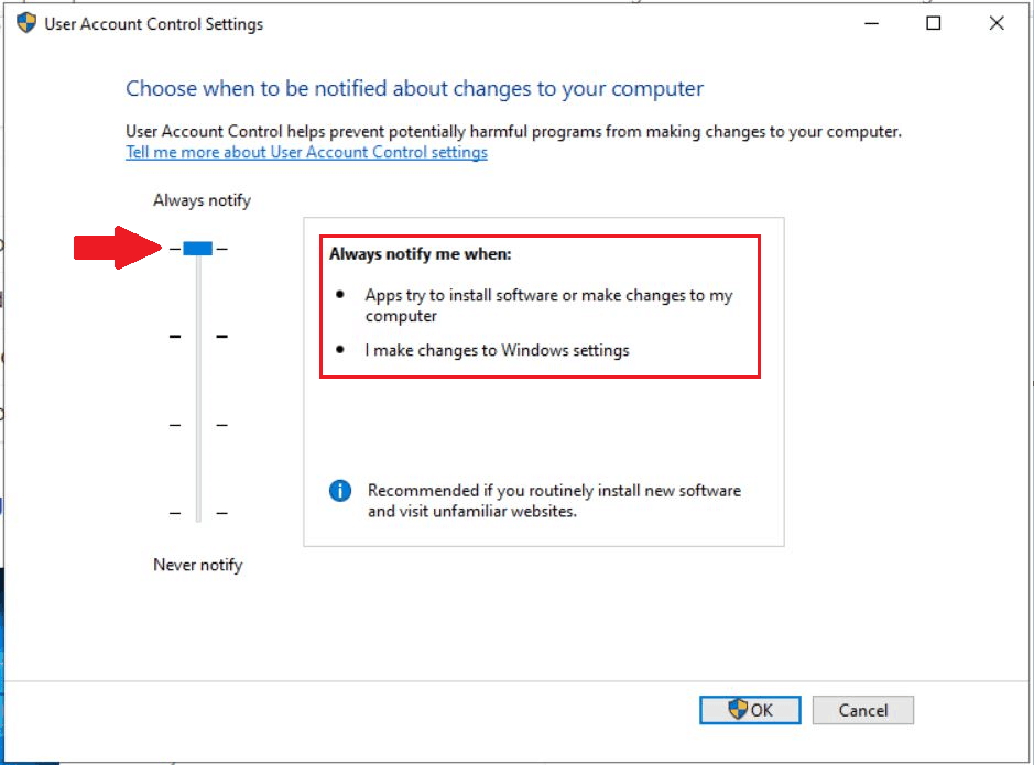 How to Change User Access Control (UAC) Settings in Windows 10 4