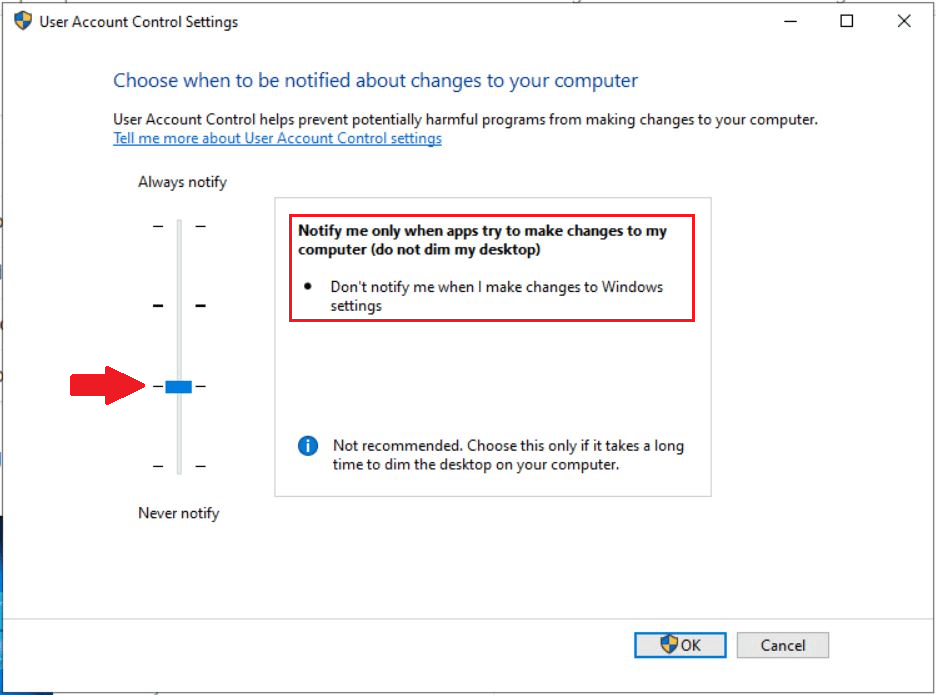 How to Change User Access Control (UAC) Settings in Windows 10 6