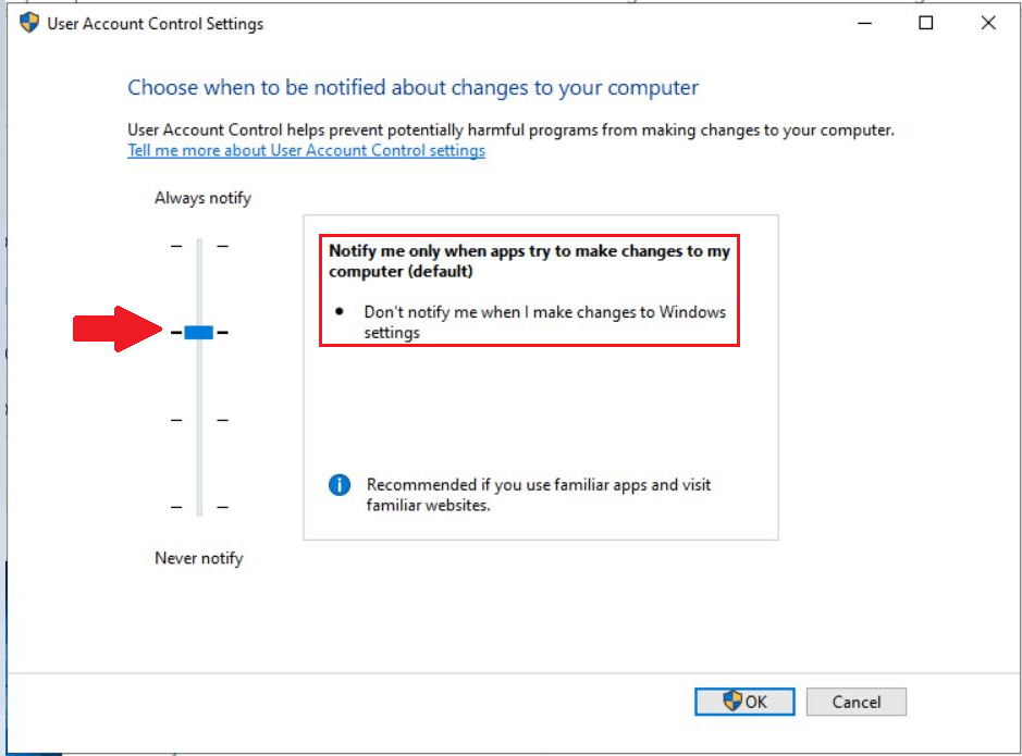 How to Change User Access Control (UAC) Settings in Windows 10 5