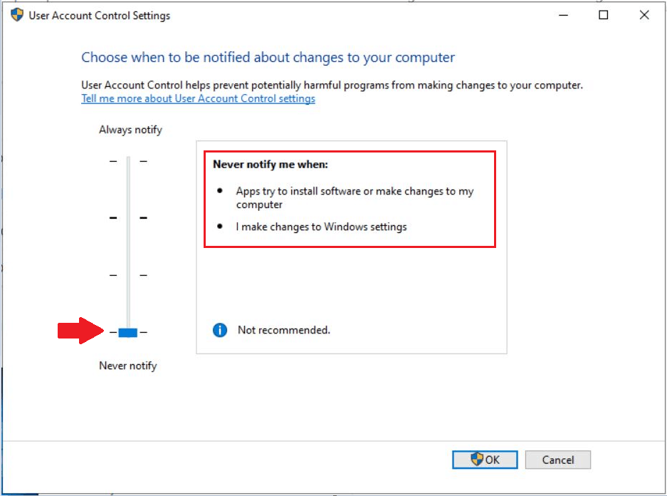 How to Change User Access Control (UAC) Settings in Windows 10 7
