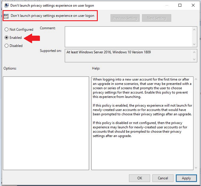 How to Disable Privacy Settings Experience at First Sign-in in Windows 10 1